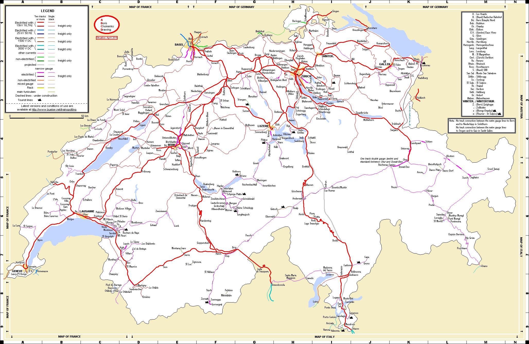路線 ヨーロッパ 図 鉄道